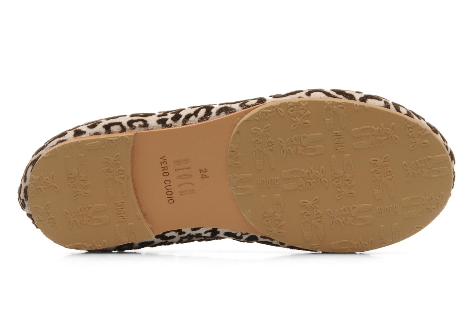 Ballerines Bloch toddler arabella animal Beige vue haut